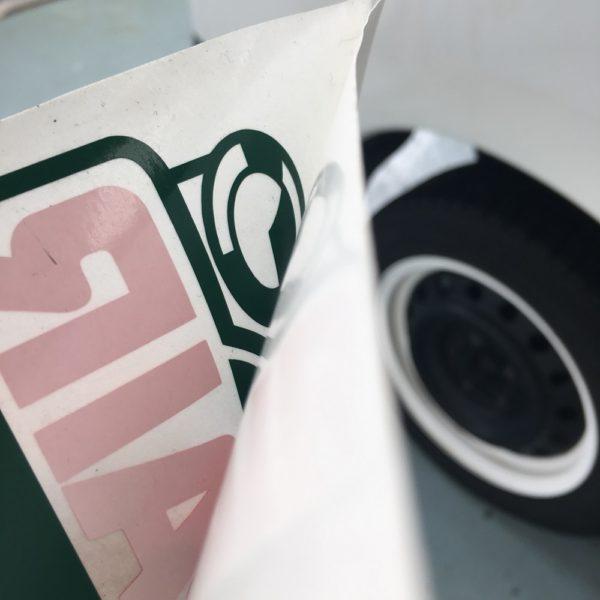 営業車 部分塗装とシール貼付