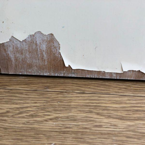 収納扉の表面材剥がれ補修