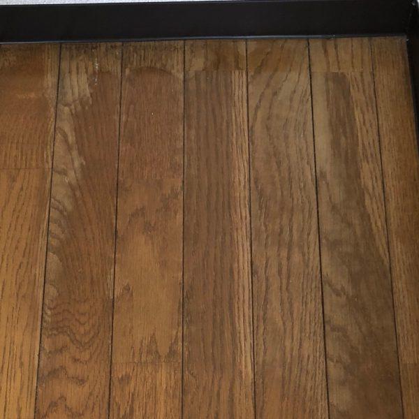 床のシミ 色味回復工事